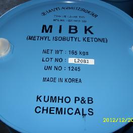Colorless, transparent and combustible liquid with an unique smell MIBK (made in Korea)