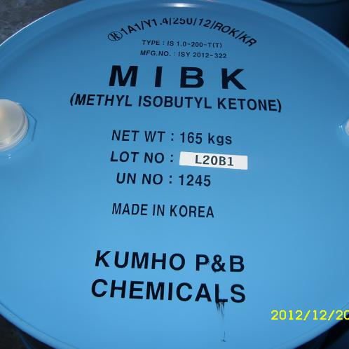 Colorless, transparent and combustible liquid with an unique smell MIBK (made in Korea) | MIBK, Methyl Iso-Buthyl Ketone, Ketone