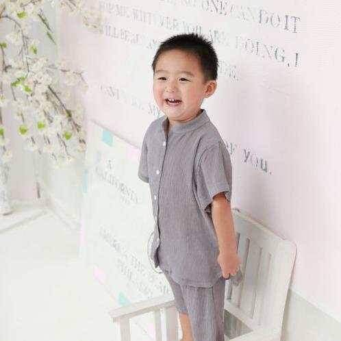 Foresntree Yoro Chiffon Wrinkled Pajama Top and Bottom Set | Sensitive,Quality,Made in Korea,Kids,ForesnTree,Baby,Toddler,Soft Fabric,Outdoors,Clothing