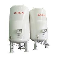 L-CO2 Storage Tank  Vertical Type (Diameter : 1500 ~ 2250mm   Height : 4490 ~ 14761mm)