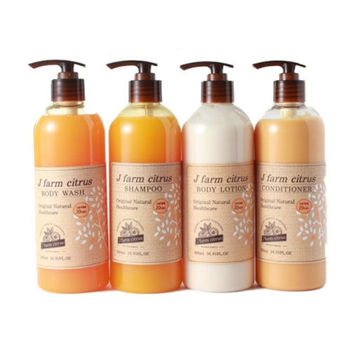 J' farm citrus Hair&Body Healthcare (Miniature) | citrus, hair, body, shampoo, conditioner, body wash, body lotion,  natural, tangerine, jeju, miniature