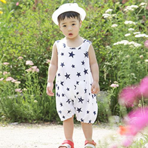 ForesnTree Star Jumpsuit Top Pants Set Summer Spring Outfit Everyday Outdoors | Sensitive,Quality,MadeinKorea,Kids,ForesnTree,Baby,Toddler,Soft Fabric,Outdoors,Clothing