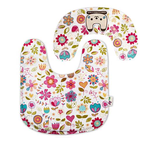 Spring Flower Mama Bib | Bib, baby product, 100% cotton, 100% natural latex, protectors neck, baby