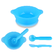 Bebelock Silicon Bowl & Spoon Set