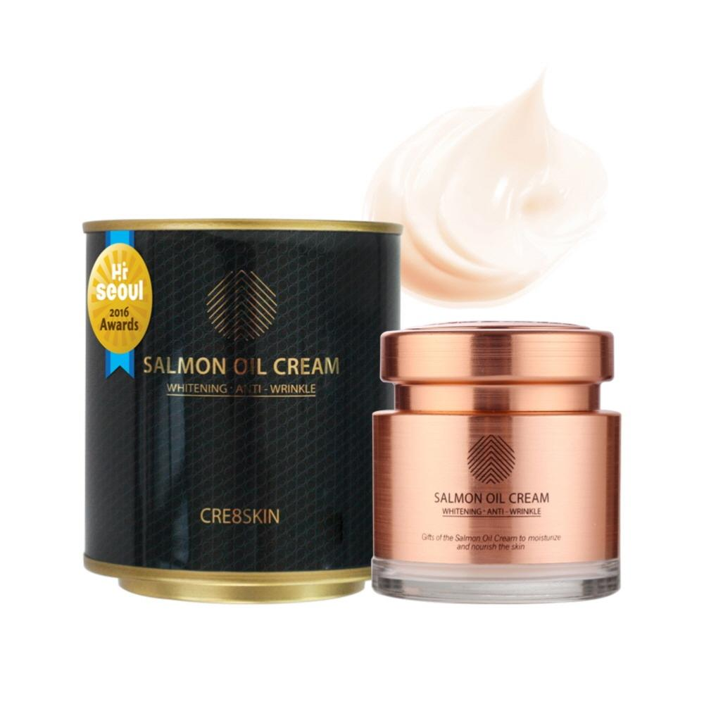 CRE8SKIN Salmon Oil Cream Facial Moisturizing Cream Brightening Anti Wrinkle 80g/2.82fl.oz