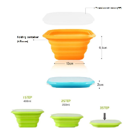 Silicone furlable food container JM-0303011101