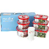 Hulock Airtight Food Storage Vacuum Containers Set of 6, 3 Piece Round and Rectangular + Vacuum Pump