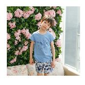 Dragon fly summer boy top-botton 2pieces