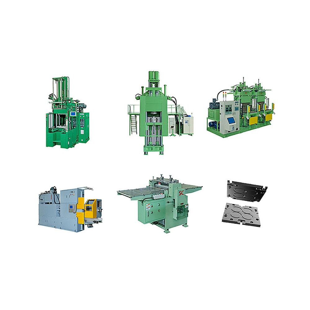 RUBBER COMPRESSION MOLDING MACHINERY