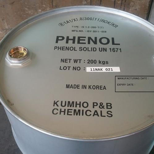 Used as a raw material for diverse chemical components PHENOL (Coagulates at room temperature) | PHENOL, Crystal Phenol, hydroxybenzene