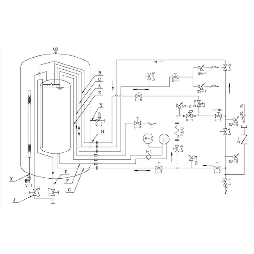 Cryogenic Storage Tank (Diameter : 1250~2400mm / Height