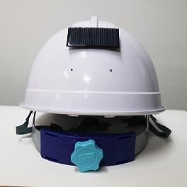 Preventing safety accidents Solar LED safety hat charged by solar power and easy to adjust size