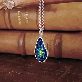 Waterdrop Cloisonne Necklace | Chilbo necklace, sea necklace, Enamel Jewelry, Cloisonne Pendant