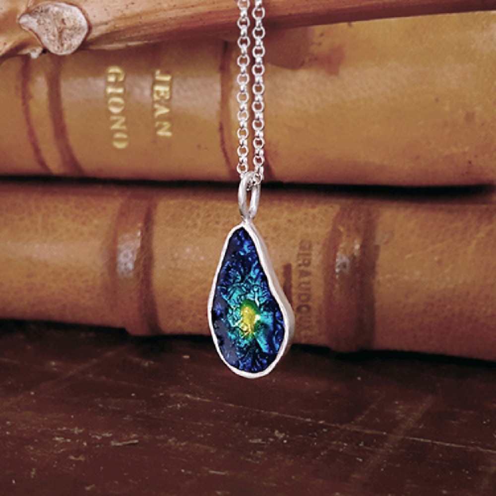 Waterdrop Cloisonne Necklace