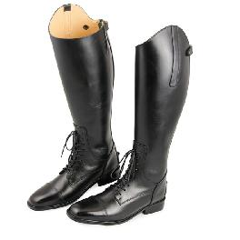 Leather strap horse riding boots