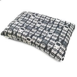Functional cotton pillow to be cleaned entirely to bacteria in internal roll pillow - Black