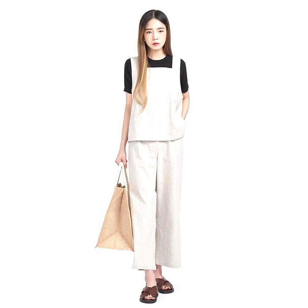 FRESH A linen bustier pants SET ( 2 colors)