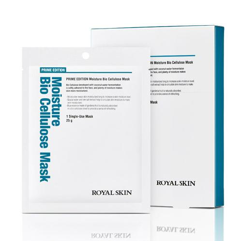 ROYAL SKIN PRIME EDITION Moisture Bio Cellulose Mask / Coconut Water Fermentation / Blue essence mad | Bio Cellulose Mask, Coconut Water Fermentation, Blue essence made of gardenia fruit