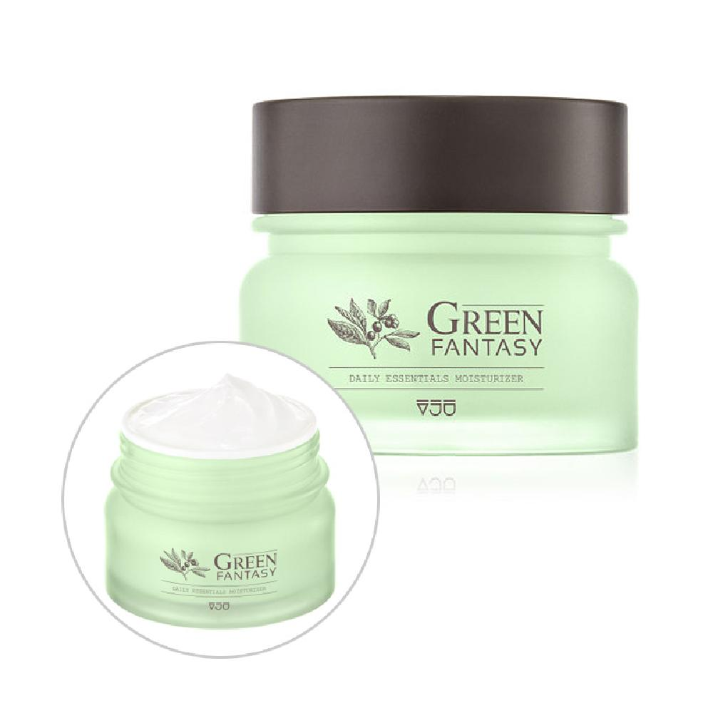 VJU Green Fantasy Daily Essentials Moisturizer / A low-irritant daily moisturizing cream