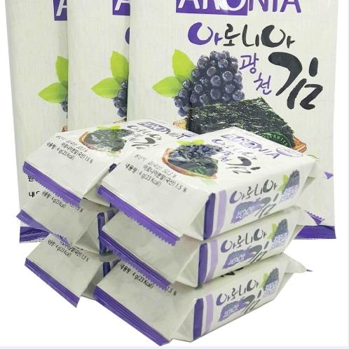 GWANGCHEON LEE LAVER Aronia Giftset | gim snack, laver snack, Seaweed, Side dishes, outdoor food, Korea traditional food