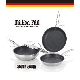 Non stick Frypan - Stainless Steel 3ply material