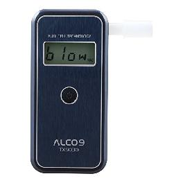 ALCO9 TX9030 Fuel Cell Breathalyzer Portable Breath Alcohol Tester Detector with LCD Display