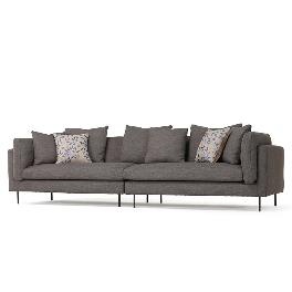 Madeleine series_fabric 01 sofa for 3 persons / Saint grey