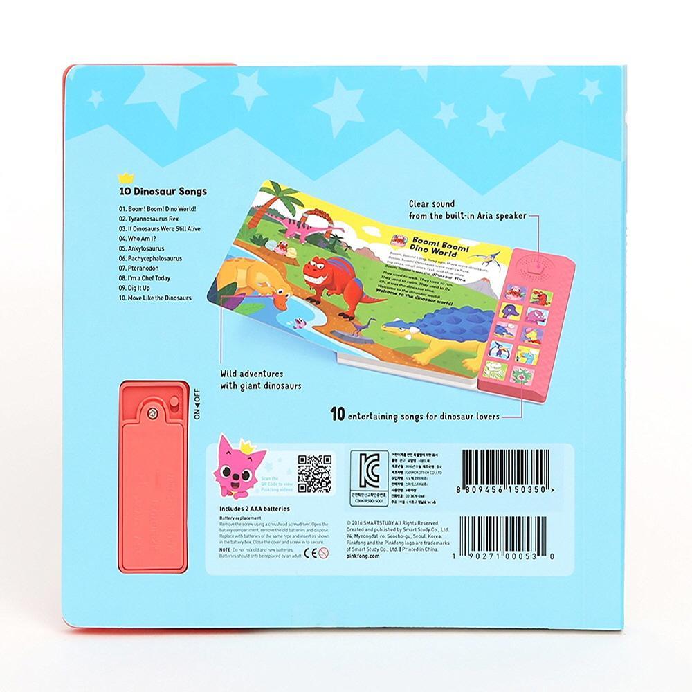 Pinkfong Children's Dinosaur Songs Sound Book | Educational Toys |  GOBIZKOREA.COM