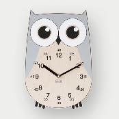 Rich Owl non-ticking Silent Wall Clock (gray)