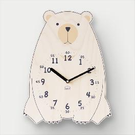 Brown Bear non-ticking Silent Wall Clock