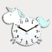 Dream Unicorn non-ticking Silent Wall Clock (mint)