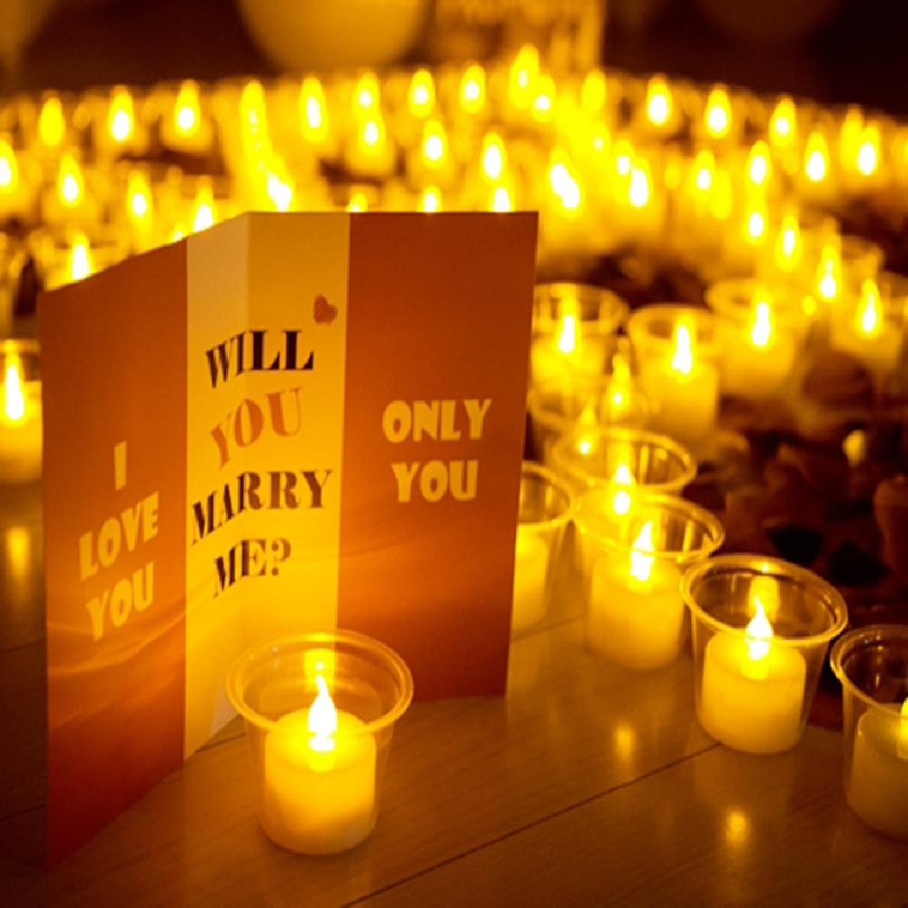 luvhunter LED Candles Set for Proposal Event Party, Luxury Type