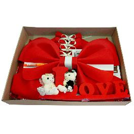luvhunter Red Car Bow, Car Decor Set for Wedding