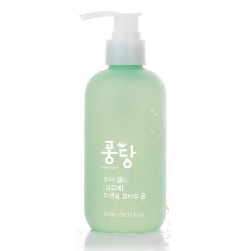 PongDang Water Jelly Aloe Essential Cleansing Foam 240ml | High-moisturizing , Cleansing Foam, Cleansing, Foam , Clean & solid skin without irritation