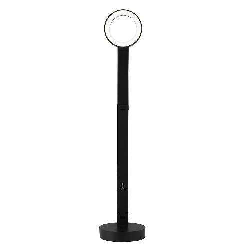 Cogylignt LED Stand Light BLACK (Chargeble Battery) | Portable and Long Lasting LG LI-ION Battery, Eye-Friendly Circular Head Design