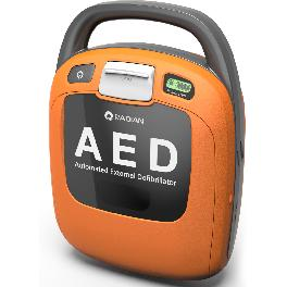 Portable automated external defibrillator CPR AED emergency medical device