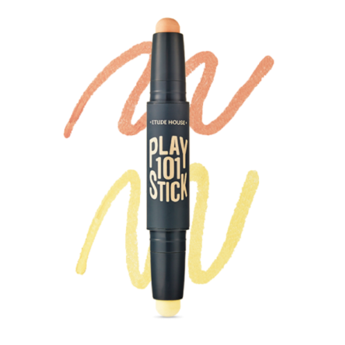 101 Stick Color Contoure Duo(Peach Orange+Yellow) | AGENKOREA,etude house,Play 101 Stick Color Contoure Duo,8color,Peach Orange,Yellow,Concealer