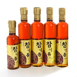 Sesame Oil Set 300ml x 4ea, 180ml x 1ea 100% whole Sesame Korea
