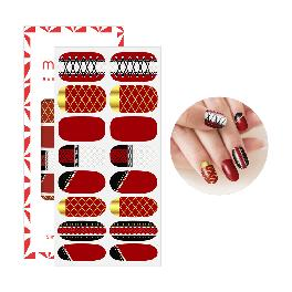 Mango10 Adhesive Nail Polish Stickers Art Design