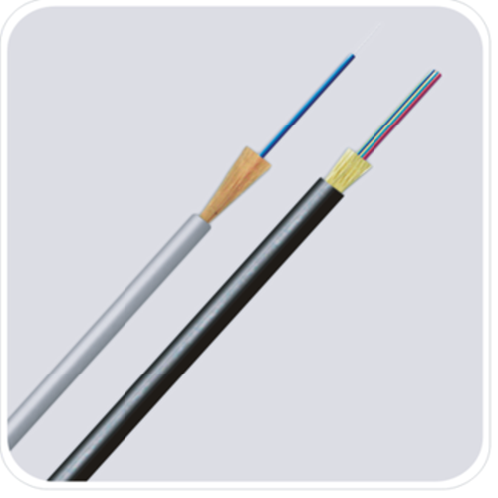 FTTH fiber optic drop cable indoor & outdoor aerial (80m span) non-metallic 0.9mm buffer PU jacket r | FTTH fiber optic drop cable indoor & outdoor aerial (80m span) non-metallic 0.9mm buffer PU jacket r
