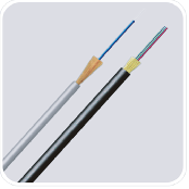 FTTH fiber optic drop cable indoor & outdoor aerial (80m span) non-metallic PU jacket round type G65