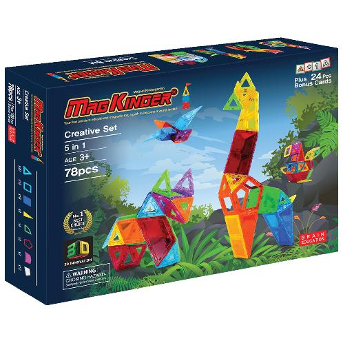 Magkinder 2D Creative Set 78 pcs | Creative, for kids, play, toy, imagination