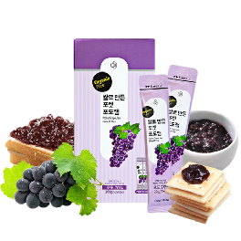 Pocket Grape Jam Made of Rice Set ( 20g x 8 pockets)