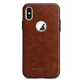 Tridea Power Guard Shock Absorption PU Leather Case for iPhone X