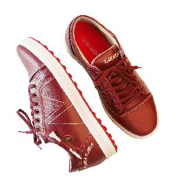 KARAKARA Spike-less Golf Shoes, KR-401 Burgundy