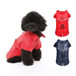 Cocotail Brooklyn Coat Pet Dog Clothes Red Navy