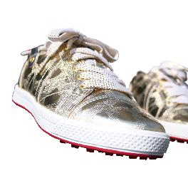 KARAKARA Spike-less Golf Shoes, KR-404, Gold