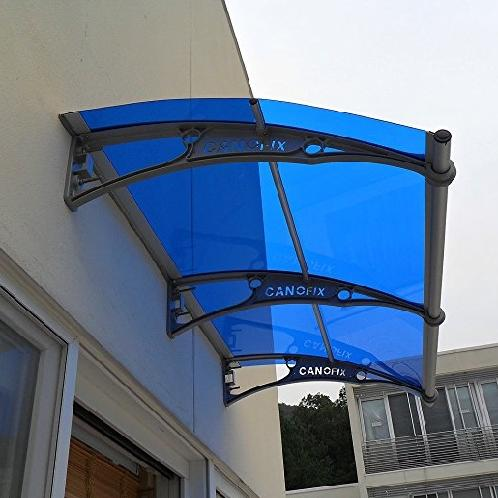 "39"" X 25.5"" Window Awning Outdoor Polycarbonate Front Door Patio Cover Garden Canopy,Blueblack 