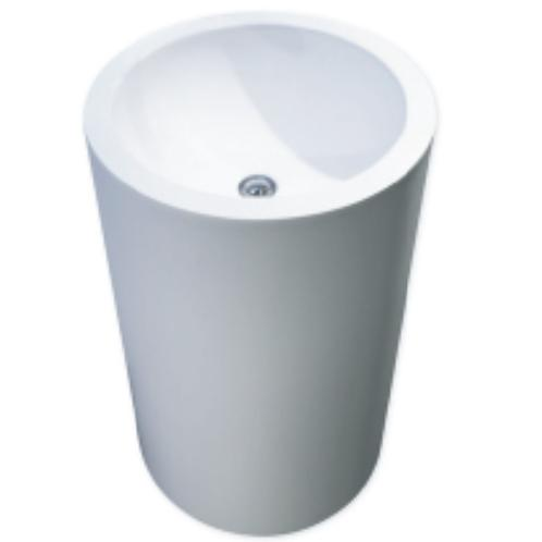 Solid surface Washbasin with Vanity Round White | washbasin,vanity,storage