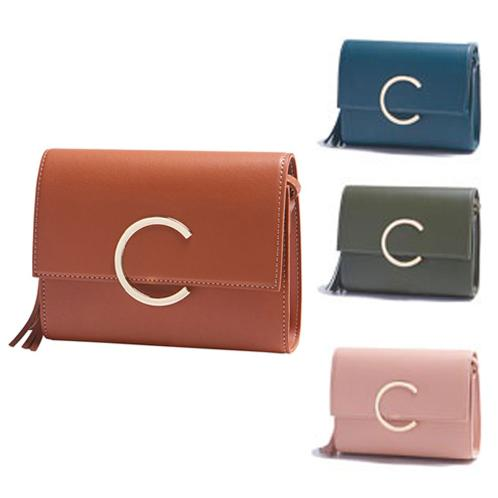 LEATHER C BUCKLE BAG | HANDBAG, K FASHION, BAG,
